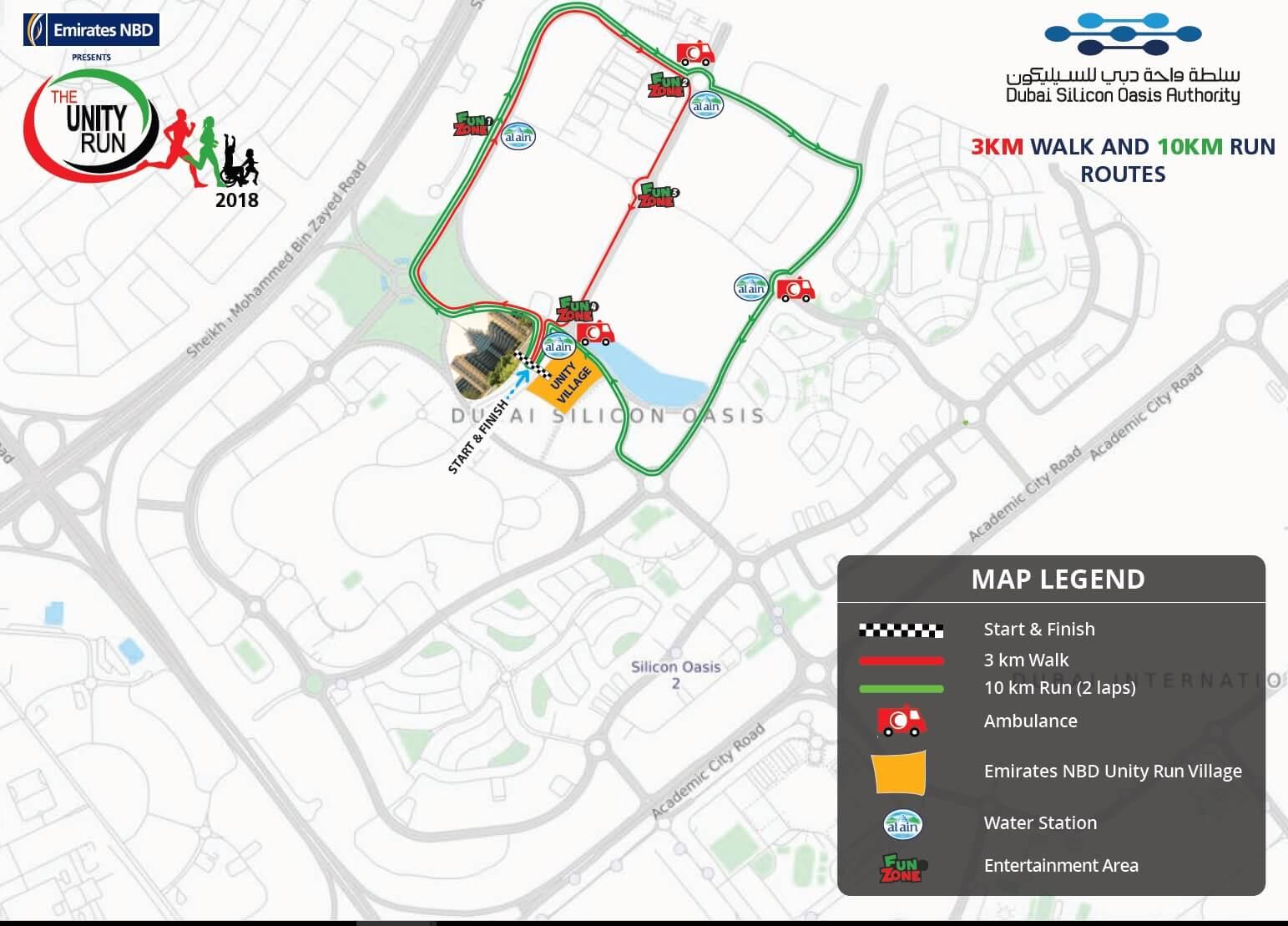 Emirates NBD Unity Run Map