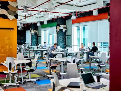 Dtec Building Hot Desk Area and Dedicated Desk Spaces